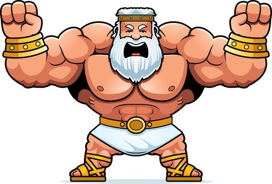 Cartoon Zeus Angry
