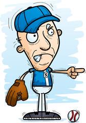 Angry Cartoon Senior Baseball Player
