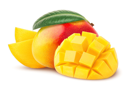 mango isolated on white background, clipping path, full depth of field