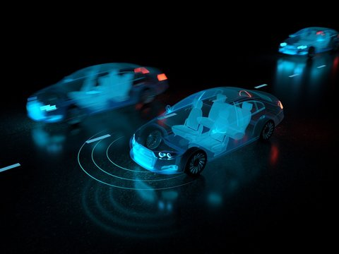 Driverless autonomous vehicle with lidar technology