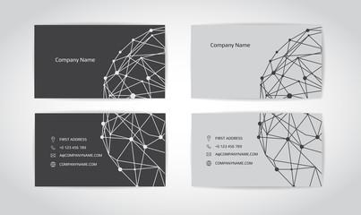 Engineering business card. Engineering drawings. vector illustration.