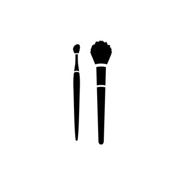 Makeup brushes for blush and lipstick vsecot icon