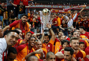 Galatasaray Turkish Super League Trophy Presentation
