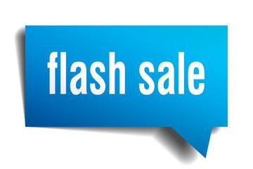flash sale blue 3d speech bubble
