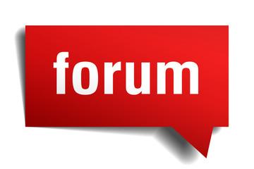 forum red 3d speech bubble