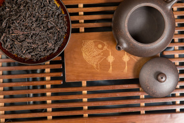 Chinese tea ceremony, Puer tea in assortment