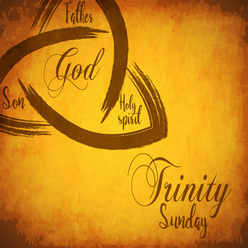 creative abstract, banner or poster for Trinity Sunday with nice and creative design.
