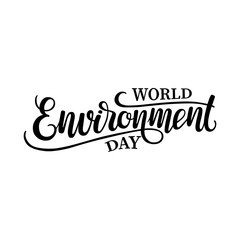World Environment Day hand drawn lettering composition. vector illustration perfect for advertising, poster, announcement, invitation, party, greeting card. eps 10