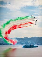 The Italian Aerobatic Team the Frecce Tricolori