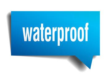 waterproof blue 3d speech bubble