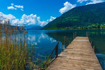 Holzsteg am Ossiacher See
