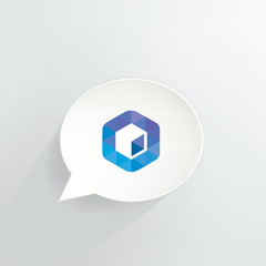 Neblio Cryptocurrency Coin Speech Bubble Background