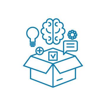 Intellectual resources line icon, vector illustration. Intellectual resources linear concept sign.