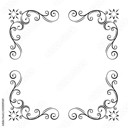 Ornaments design elements, Corners, Curbs  Floral borders, Filigree