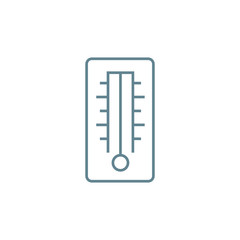 Mercury thermometer line icon, vector illustration. Mercury thermometer linear concept sign.