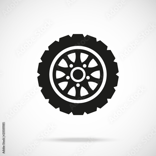 tire icon car wheel vector icon stock image and royalty free