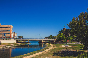Park. A sunny day in the park ¨Fluvial¨ in Fuengirola.