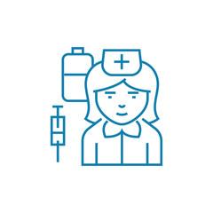 Nurse line icon, vector illustration. Nurse linear concept sign.