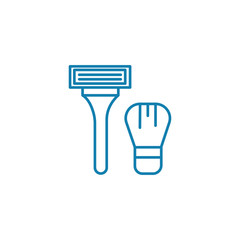 Shaving line icon, vector illustration. Shaving linear concept sign.