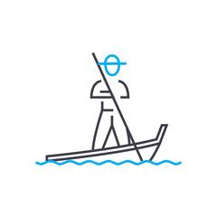 Vietnamese line icon, vector illustration. Vietnamese linear concept sign.