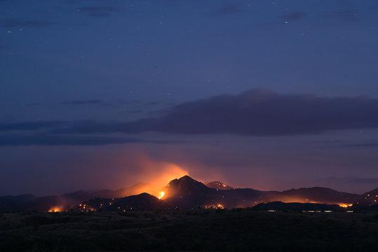 Wildfire and Black Peak, Coronado National Forest, Arizona 7/30/2016