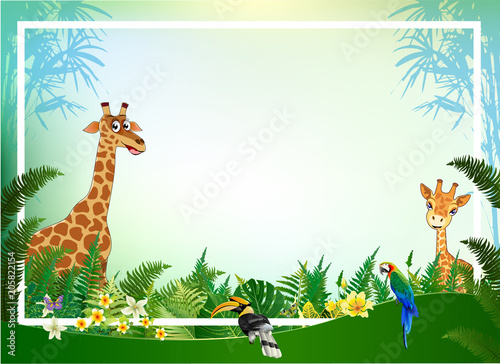 jungle or zoo themed animal background stock image and royalty