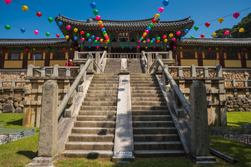 Bulguksa Temple is one of the most famous Buddhist temples in all of South Korea and a UNESCO World Heritage Site.