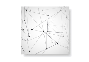 Abstract cover vector templates. Modern geometric background with connected lines and dots