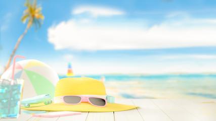 Summer at beach background