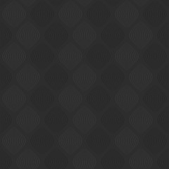 simple shapes. gray curves. vector seamless pattern. dark background