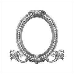 ANTIQUE FRAME ORNAMENT VECTOR ILUSTRATION
