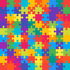 Colorful Background Puzzle. Banner Puzzle.