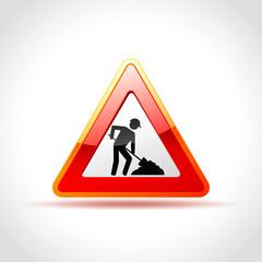 work sign on white background