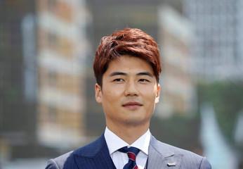 A South Korea men's national football team captain Koo Ja-cheol attends their inaugural ceremony in South Korea men's national football team captain Koo Ja-cheol attends their inaugural ceremony in Seoul