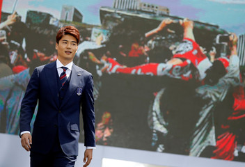 South Korea men's national football team captain Koo Ja-cheol attends their inaugural ceremony in Seoul