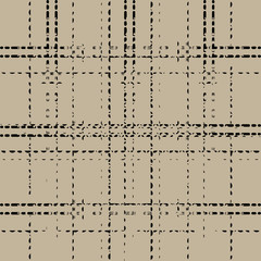 black grunge grid dashed line on brown background