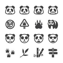 Panda icon set