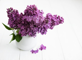 Bouquet of lilac flowers