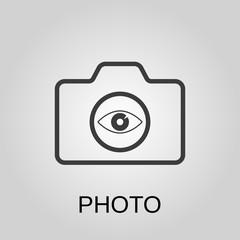 Photo icon. Photo symbol. Flat design. Stock - Vector illustration