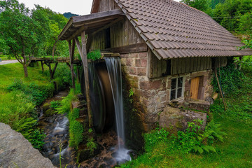 Foto op Canvas Molens A small water mill in Germany, Schwarzwald / Black Forest, May 2018