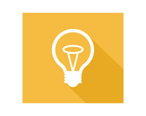 lamp bulb business company web corporation image vector icon symbol