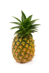 Ripe pineapple is tropical fruit isolated on white background