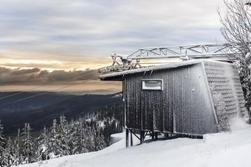 Fototapeta Ski lift in the Karkonosze Mountains obraz