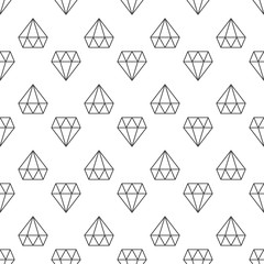 Diamonds dark vector linear geometric seamless pattern