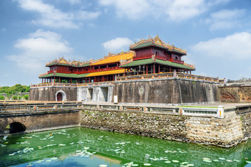 View of the Meridian Gate to the Imperial City, Hue Wall mural