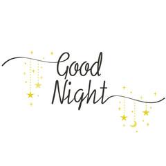 Calligraphy style Good Night illustration