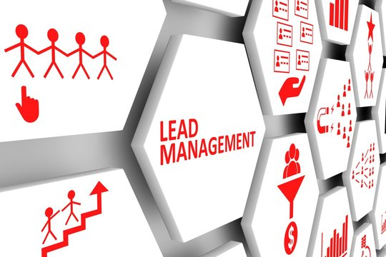 Lead management concept cell background 3d illustration