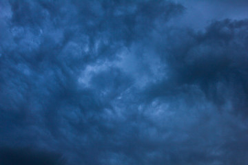 black rain clouds