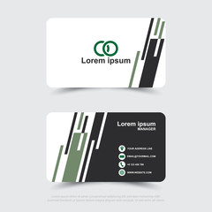 Design of modern business name card template.