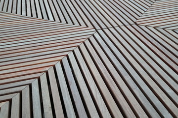 An image of a wooden lattice.